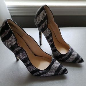 Black and Grey Pumps